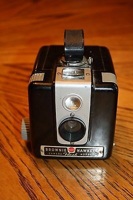 Kodak Brownie Hawkeye Box Camera Flash Model Vintage Box 620 Film NICE & CLEAN!