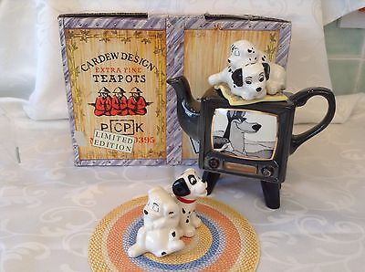 Cardew Collectable Disney Showcase Novelty Teapot 101 Dalmations Tv Boxed Condtn