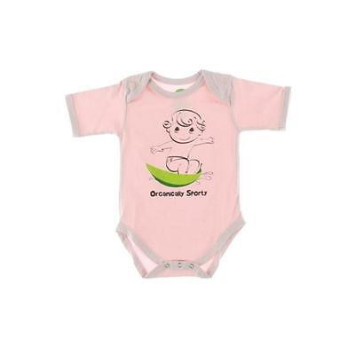 The Green Creation 0529 Pink Organic Graphic Natural Bodysuit Top 0-3 MO BHFO