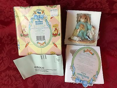 "BLUSHING BUNNIES ""YOU'RE SOME BUNNY WARM AND CUDDLY"" No. 276359-Mint New In Box"