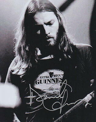 David Gilmour - Pink Floyd - GUINNESS - Silver Autographed 8 x 10 Photo with COA