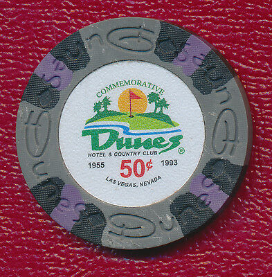 DUNES HOTEL & COUNTRY CLUB 50c GAMING CHIP **LAS VEGAS, NV** FANTASY CHIP
