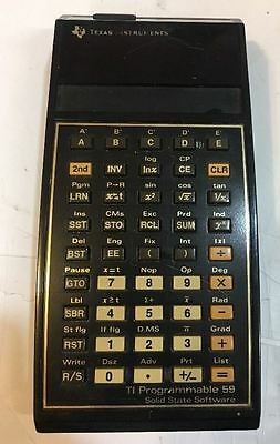 Vintage Texas Instruments TI 59 Programmable 59 Calculator W/ Master Library 1