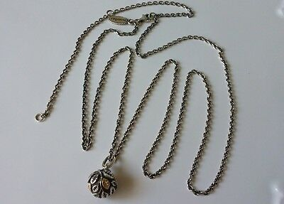 PANDORA Tree of Life  Silver & 14K Gold  Necklace # 390121-80. Retired.