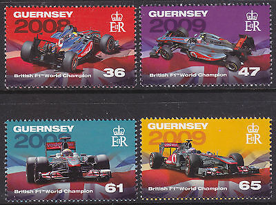 Guernsey 2011 British F1 World Champions (2nd) Set UM SG1401-4 Cat £4.75