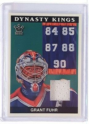 2015 Leaf Sportkings Dynasty Kings Grant Fuhr Game Used Jersey