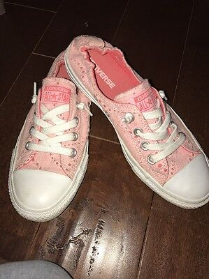 Converse All Star Women's Size 8 Pink Shoreline Slip On