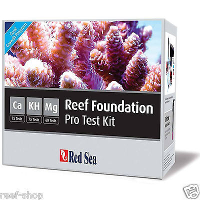 Red Sea Reef Foundation Pro Test Kit Ca KH Mg Coral Nano Reef FREE USA SHIPPING!