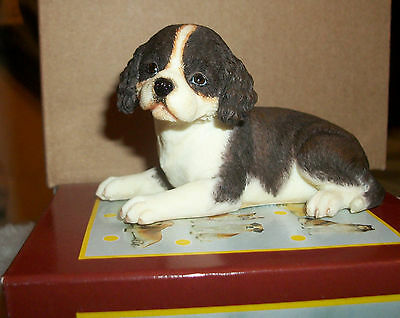PACIFIC GIFTWARE World of Dogs English Springer Spaniel Puppy  RESIN FIGURINE