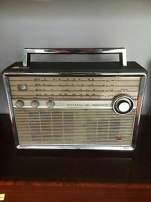 Old Large National Portable Radio - Working