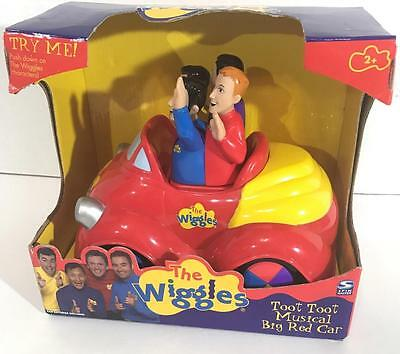 The Wiggles Push Top Wiggle&Giggle Musical Singing Big Red Car Toot Toot in Box