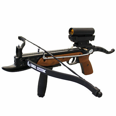 SAS Prophecy 80 lbs Self-cocking Pistol Crossbow Scope Package with Cobra Limb