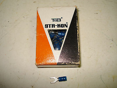 T&B Sta-Kon Fork Terminal Connectors RB14-8F Nylon Insulated Lot of 97 New