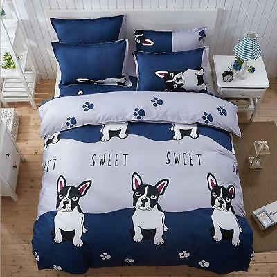 Pet-Dog-Style-Bed-Pillowcase-Duvet-Cover-Quilt-Cover-Set--Queen-Size