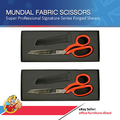 Set of 2 X Mundial Scissors Signature Series Dressmaker Shears Tailor Scissor