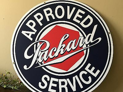 """PACKARD Authorized Service Vintage look Sign 36"""" high quality Porcelain look"""