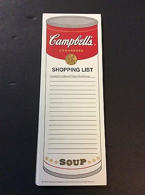 Campbell's Soup Company CAMPBELL'S SHOPPING LIST Magnetic Pad 1999