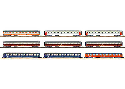 Märklin 87409 Z Gauge Display with 9 Eurofima Wagon #new original packaging#
