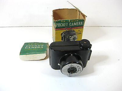 Vintage Small V P Twin Pocket camera Made in England comes with original box