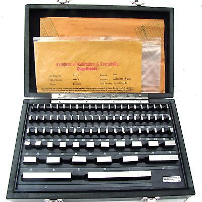 HFS 81 Pcs Grade B Gage Gauge Block Set ; Nist Traceable Certificate