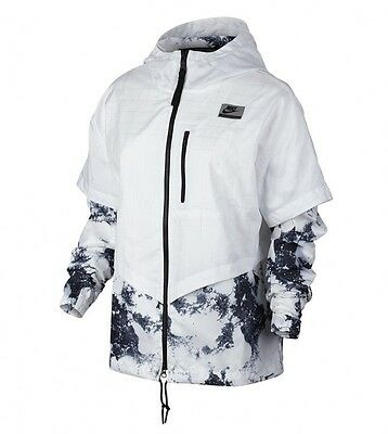 Nike Damen INTERNATIONAL WINDRUNNER Gr. M L Jacke White 802358 100