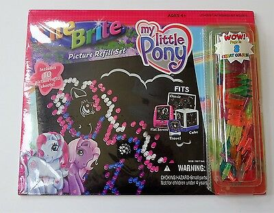NIP Lite Brite My Little Pony Picture Refill Set 10 Sheets Pegs Light Bright NEW