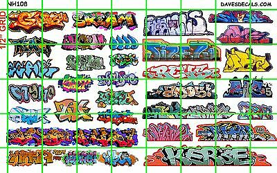 NH108 1/2 Set N SCALE MODERN GRAFFITI URBAN TAGGING for TRAINS BUILDING MORE