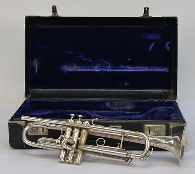 King Silver Flair Silver Plated Brass Bb Trumpet 1970-1975 Vintage w/ Case