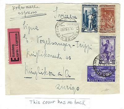 1951 Italy Express Mail Cover (Front Only) (KK61)