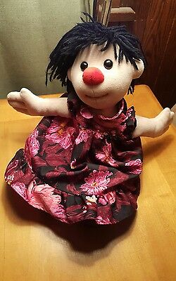 "17"" The Big Comfy Couch Molly Plush Doll Stuffed 1995 Clown Blue Bloomers"