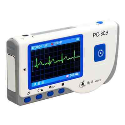 Heal Force PC-180B Handheld Color ECG EKG Heart Monitor+ Lead Cable & Electrode