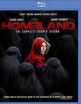 Homeland: The Complete Fourth Season (Blu-ray Disc, 2015, 3-Disc Set) 4 NEW
