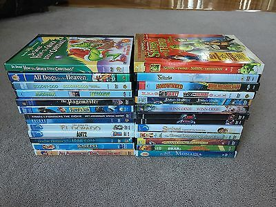 46 Kids DVDs Lot - some NEW SEALED, with Slipcovers - Shrek, Antz, Scooby-doo