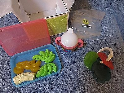 Retired American Girl BITTY BABY SWIM SNACK SET  Sippy Cup, Food, Beach Toys