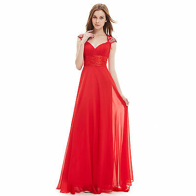 Formal Long V Neck Evening Party Bridesmaid Wedding Prom Maxi Dresses US Size 08