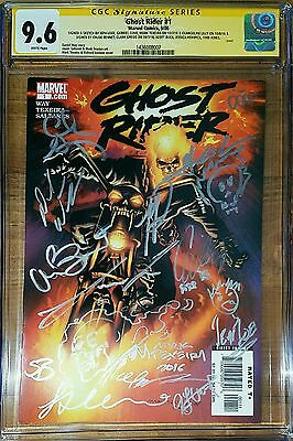 Ghost Rider 1 CGC SS 9.6 Cast Signed X 12 and Sketched X 4