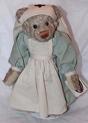 """1999 Cottage Collectibles by GANZ Ms. Nightingale Nurse Bear Doll  12"""" H"""