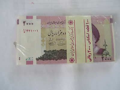 10 x 2000  IRAN Rials, banknotes, Uncirculated Currency Central Bank