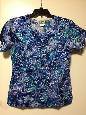 W S Geer Size Xl 100% Cotton Multi Color Patterned  Women Scrub Top