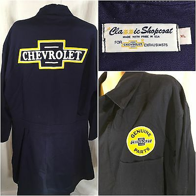 Classic Chevrolet Mechanics Shopcoat - Chevy Coveralls Labcoat Size XL Cover All