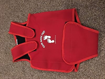 Baby Wrap Swimsuit / Baby Warmer Wetsuit - Red  - 18-24 Large. Two Bare Feet