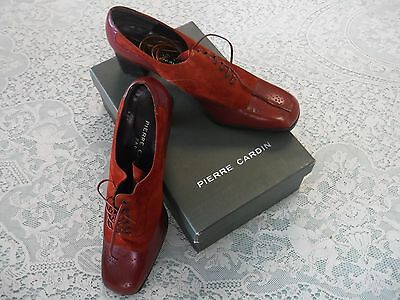 Vintage unworn Pierre Cardin Parsifal Leather Shoes 9B with box France