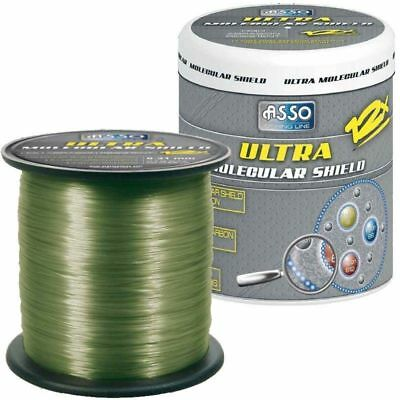 Asso Ultra  Molecular Shield Carp Flourocarbon Coated Fishing Line 1200 m New