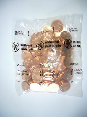 Decimal 1/2 pence coins - 1983 last full minting - Uncirculated - pack of 200