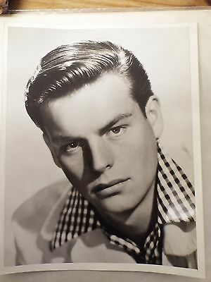 "1940`s - 1950`s Film Stars 8"" x 10"" Large Robert Wagner Black & White Photograph"