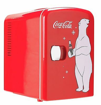 Coke Mini Fridge With Bear.