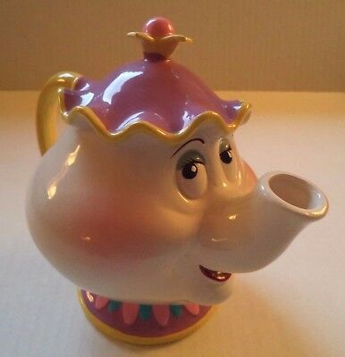 Schmid Disney Mrs Potts Teapot Ceramic Coin Bank  Beauty and the Beast Character