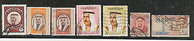 Lot, Stamp lot, Used, High value, Shaikh Abdullah, Middle East, Kuwait.