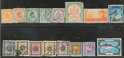 Lot, Stamp lot, Used, old, Middle East, Libia.
