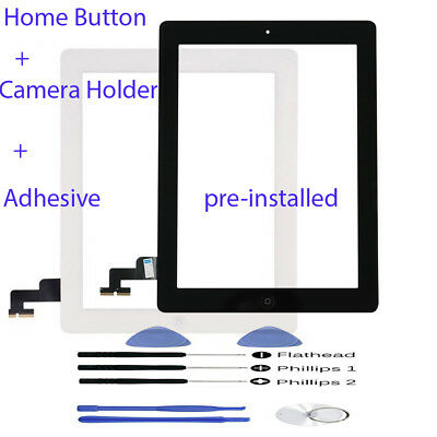Front Glass Lens Touch Screen Panel Digitizer For iPad 2 2nd A1395 A1396 A1397